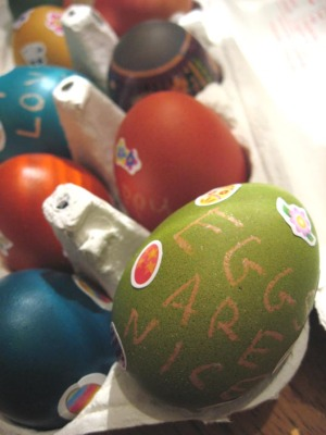 our first Easter eggs