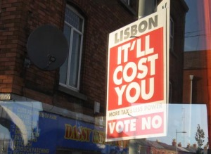 Anti-Lisbon Treaty Campaign Sign