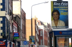 Campaign signs against the Lisbon Treaty