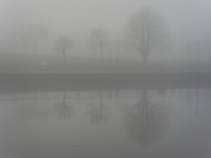 Fog in Drogheda along the River Boyne - December 2012