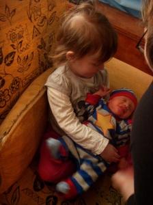 Shea meets big sister!