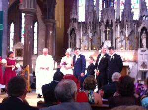 The happy couple as the ceremony came to a close. (photo courtesy of/stolen from Wendy Tinsley)