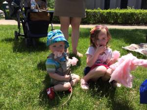 Candy Floss while watching the Indy 500 Parade